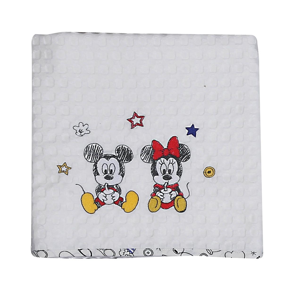 Κουβέρτα Πικέ Κούνιας Nef-Nef Disney Mickey Best Friends 88903