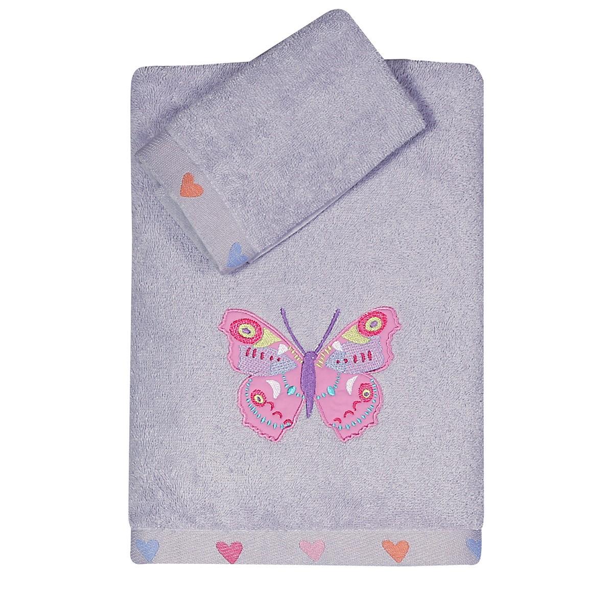 Παιδικές Πετσέτες (Σετ 2τμχ) Nef-Nef Kid Colour Butterflies