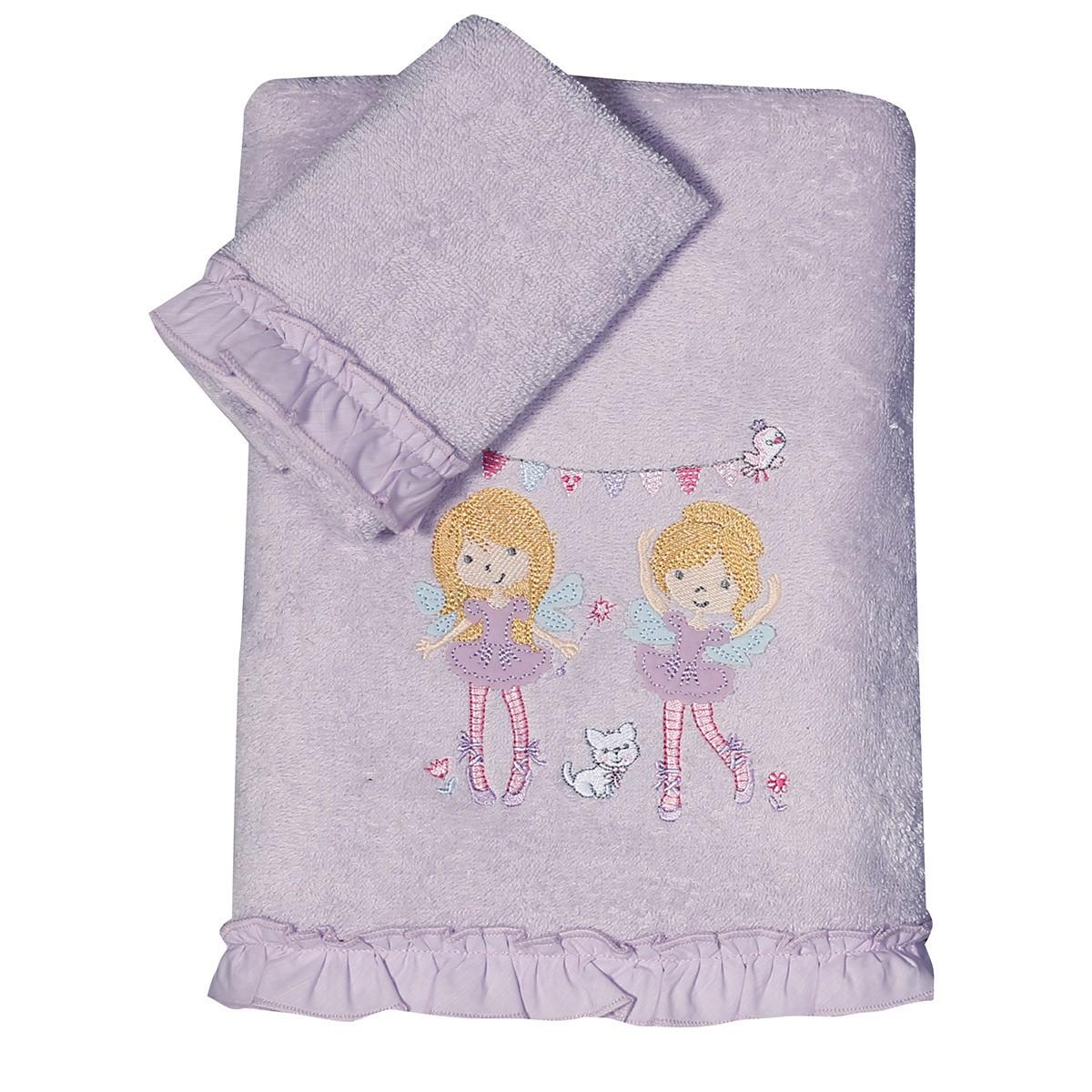 Παιδικές Πετσέτες (Σετ 2τμχ) Nef-Nef Kid Happy Girls home   παιδικά   πετσέτες παιδικές