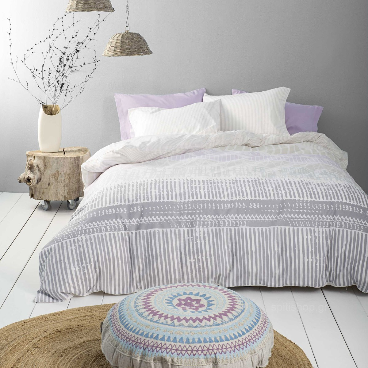 Κουβερλί Μονό Nima Bed Linen Akachi Lilac
