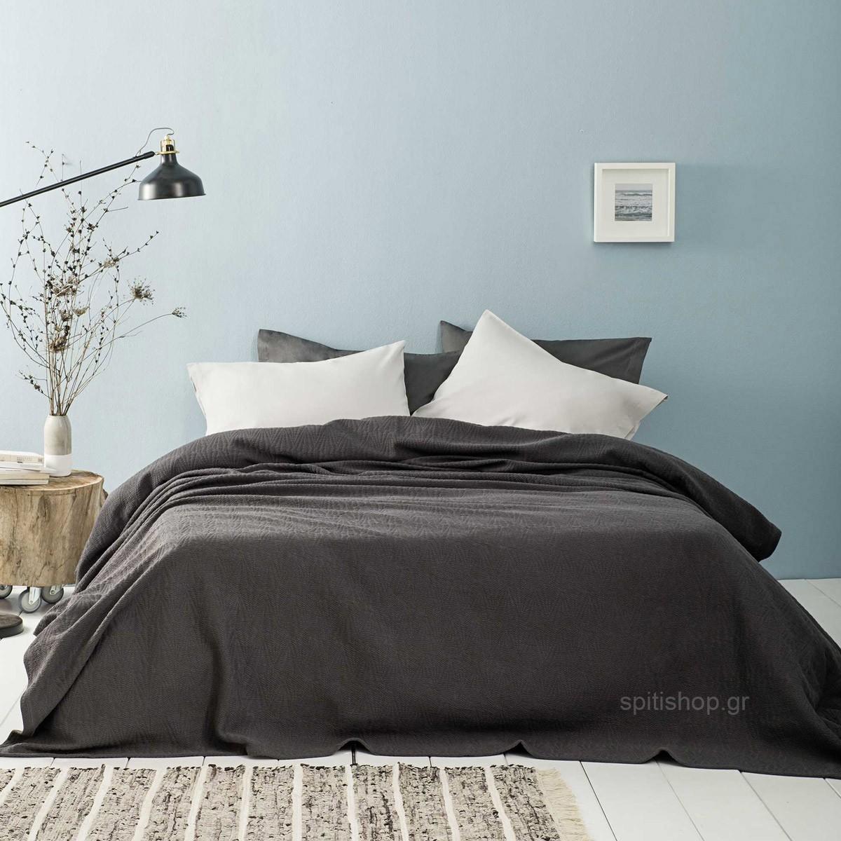 Κουβερτόριο Υπέρδιπλο Nima Layers Residence Grey 89023