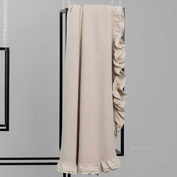 Κουβέρτα Πικέ Υπέρδιπλη Nima Layers Beatrice Light Beige