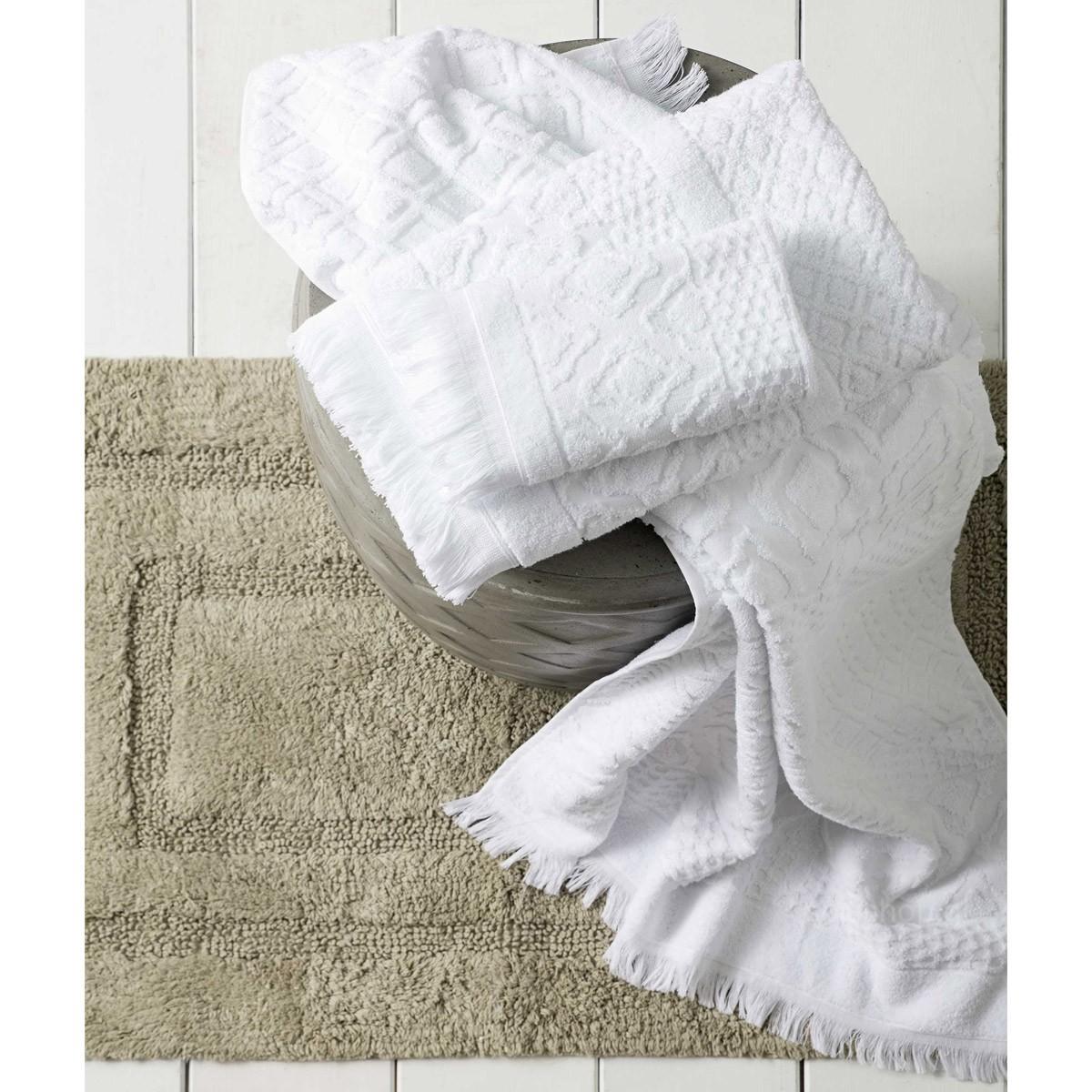 Πετσέτες Μπάνιου (Σετ 3τμχ) Nima Towels Dioni White