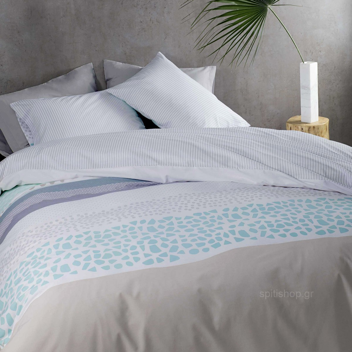 Κουβερλί Υπέρδιπλο Nima Bed Linen Adisha Aqua