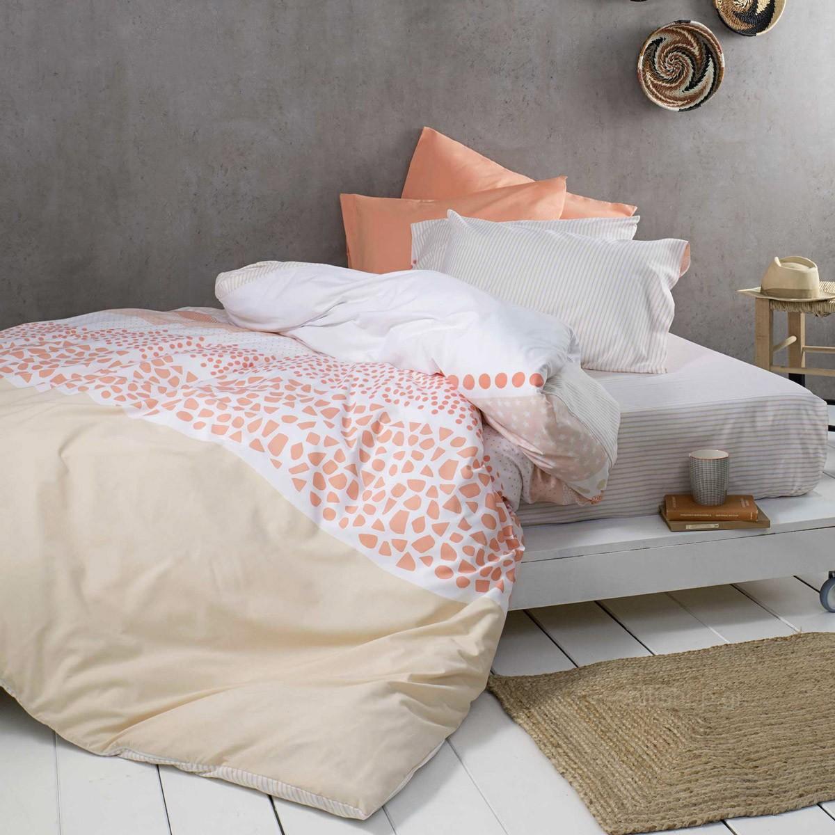 Κουβερλί Μονό Nima Bed Linen Adisha Coral