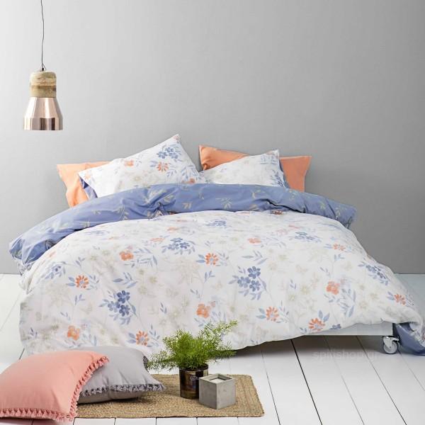 Σεντόνια Μονά (Σετ) Nima Bed Linen Lilian Blue
