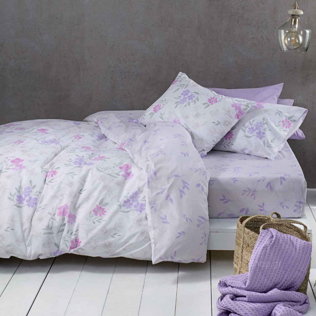 Σεντόνια Υπέρδιπλα (Σετ) Nima Bed Linen Lilian Pink ΜΕ ΛΑΣΤΙΧΟ ΜΕ ΛΑΣΤΙΧΟ home   κρεβατοκάμαρα   σεντόνια   σεντόνια υπέρδιπλα
