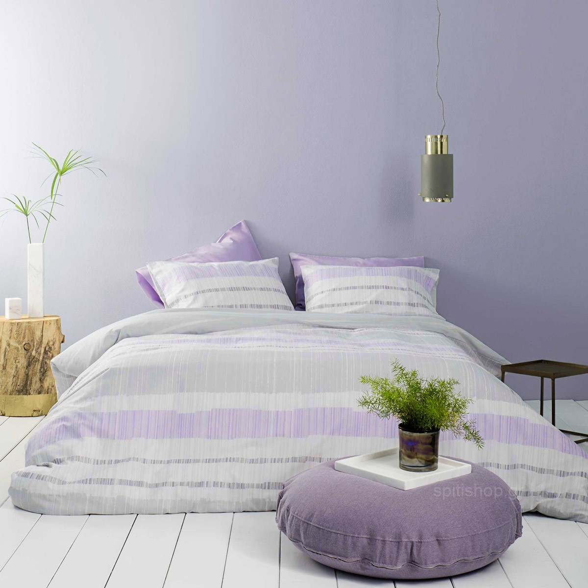 Σεντόνια Μονά (Σετ) Nima Bed Linen Rules Lilac ΧΩΡΙΣ ΛΑΣΤΙΧΟ 170×260 ΧΩΡΙΣ ΛΑΣΤΙΧΟ 170×260