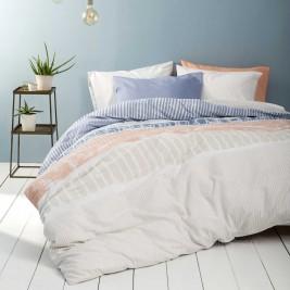 Σεντόνια Μονά (Σετ) Nima Bed Linen Akachi Blue