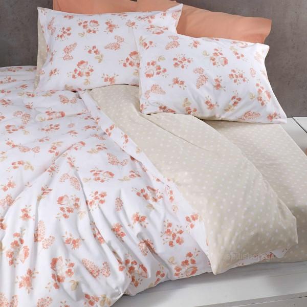 Σεντόνια Υπέρδιπλα (Σετ) Nima Bed Linen Alyssa Coral