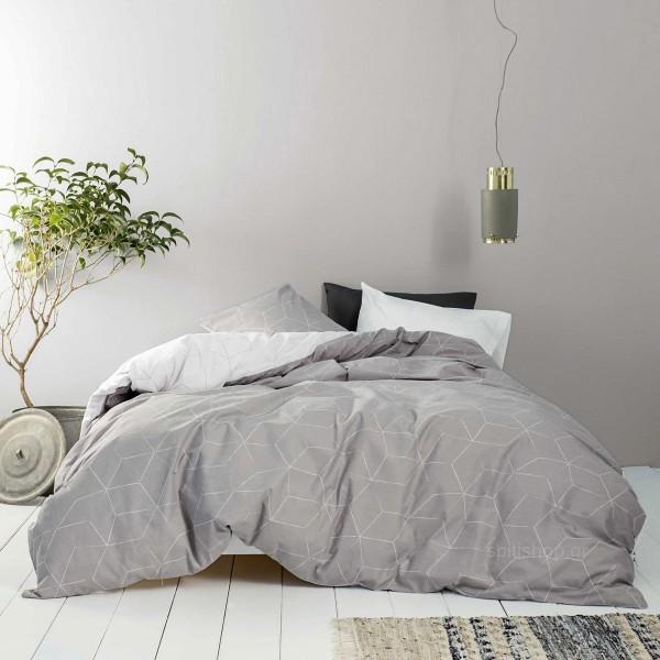 Σεντόνια Μονά (Σετ) Nima Bed Linen Fade Grey