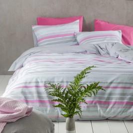 Σεντόνια Μονά (Σετ) Nima Bed Linen Kekoa Pink