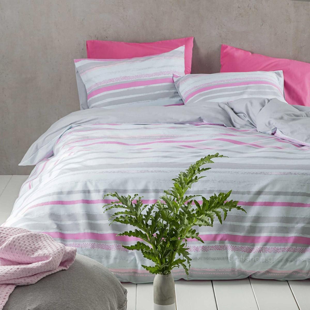 Σεντόνια Μονά (Σετ) Nima Bed Linen Kekoa Pink ΧΩΡΙΣ ΛΑΣΤΙΧΟ ΧΩΡΙΣ ΛΑΣΤΙΧΟ