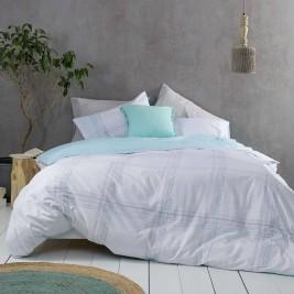Σεντόνια Υπέρδιπλα (Σετ) Nima Bed Linen Erogno Aqua
