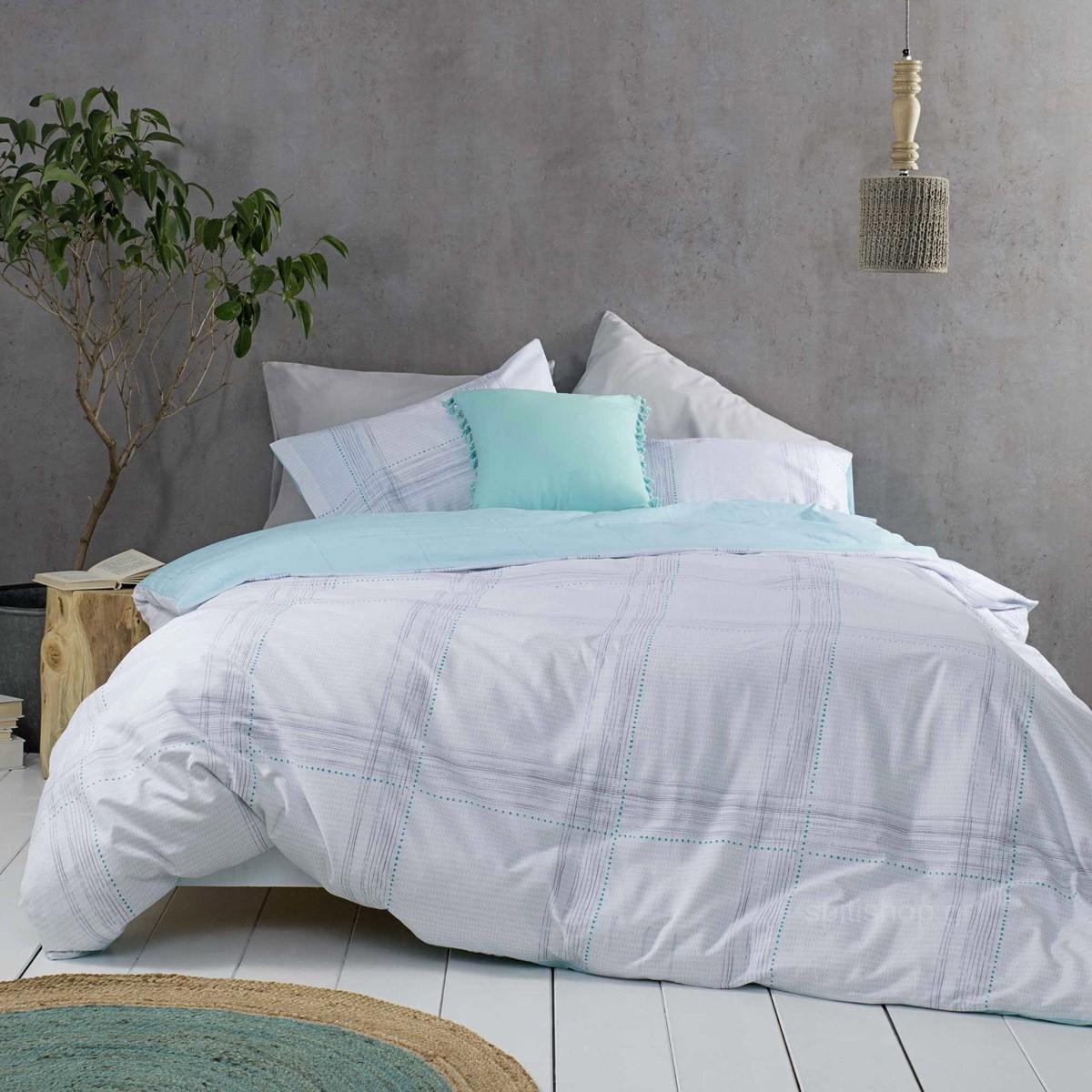 Σεντόνια King Size (Σετ) Nima Bed Linen Erogno Aqua