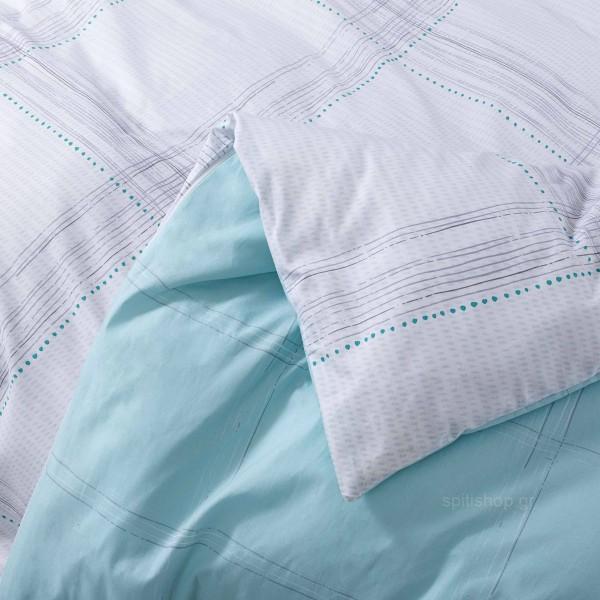 Κουβερλί Μονό Nima Bed Linen Erogno Aqua