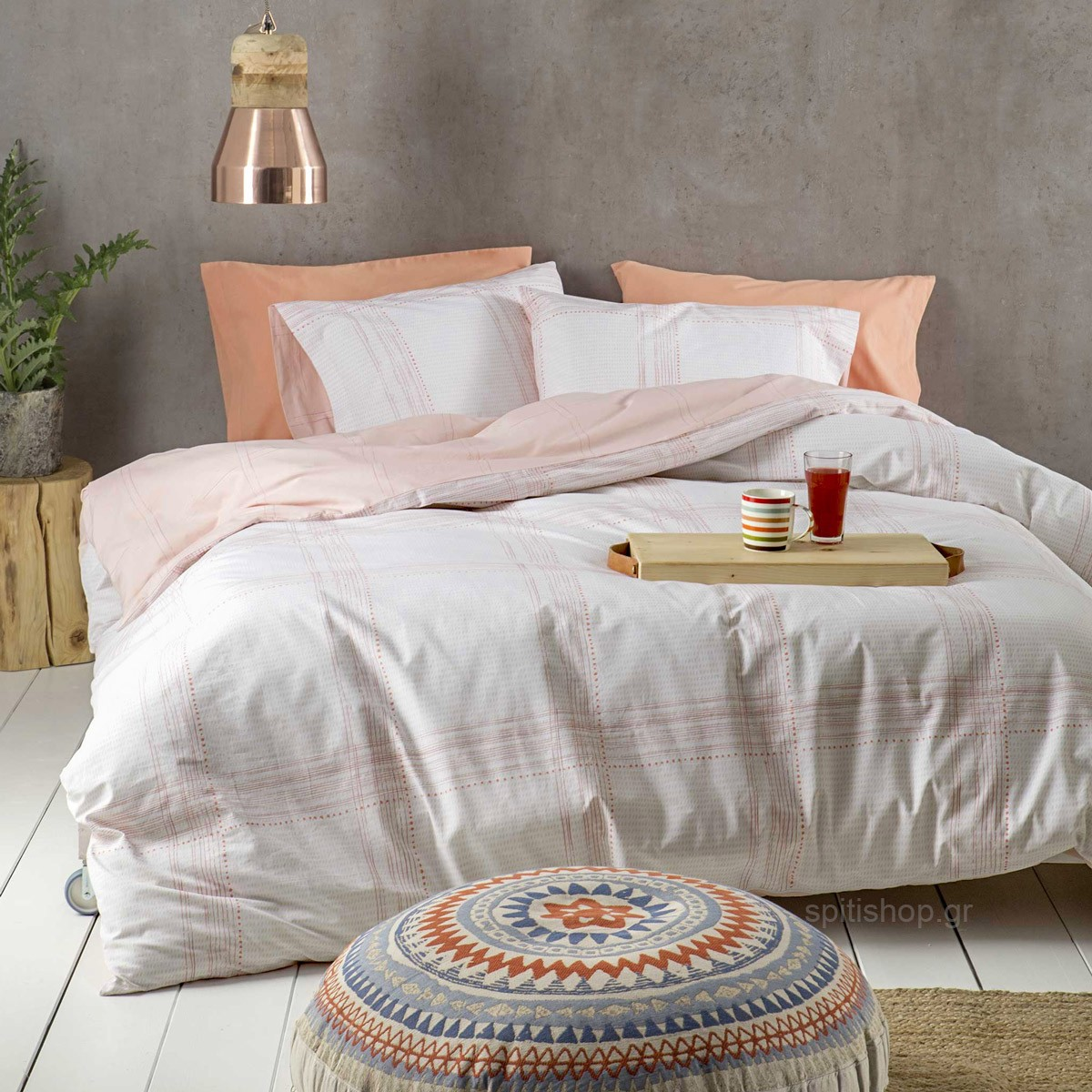 Σεντόνια King Size (Σετ) Nima Bed Linen Erogno Coral