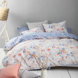 Σεντόνια King Size (Σετ) Nima Bed Linen Floret Blue