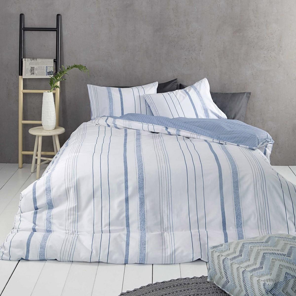 Σεντόνια Υπέρδιπλα (Σετ) Nima Bed Linen Homme Blue