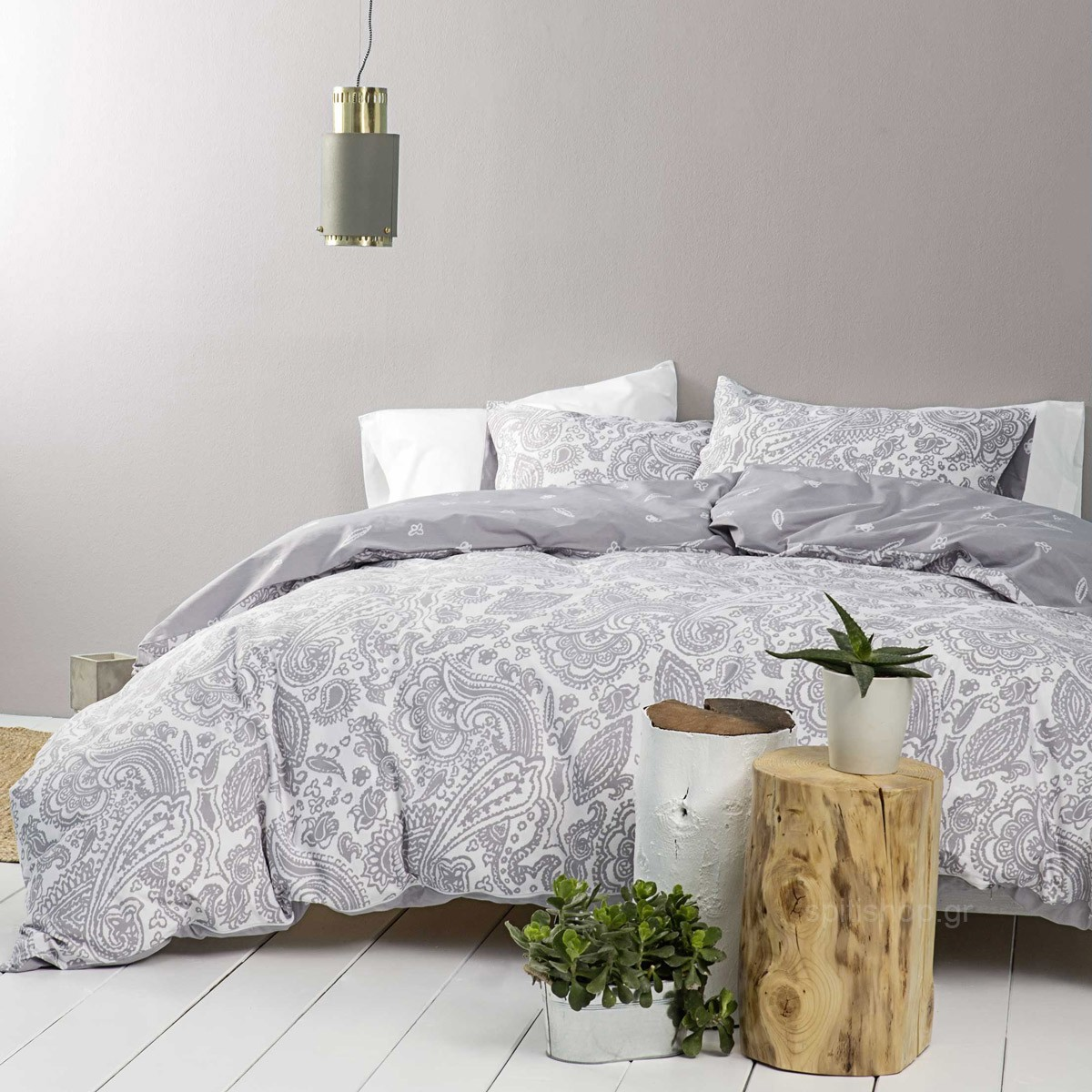 Σεντόνια King Size (Σετ) Nima Bed Linen Keyla Grey