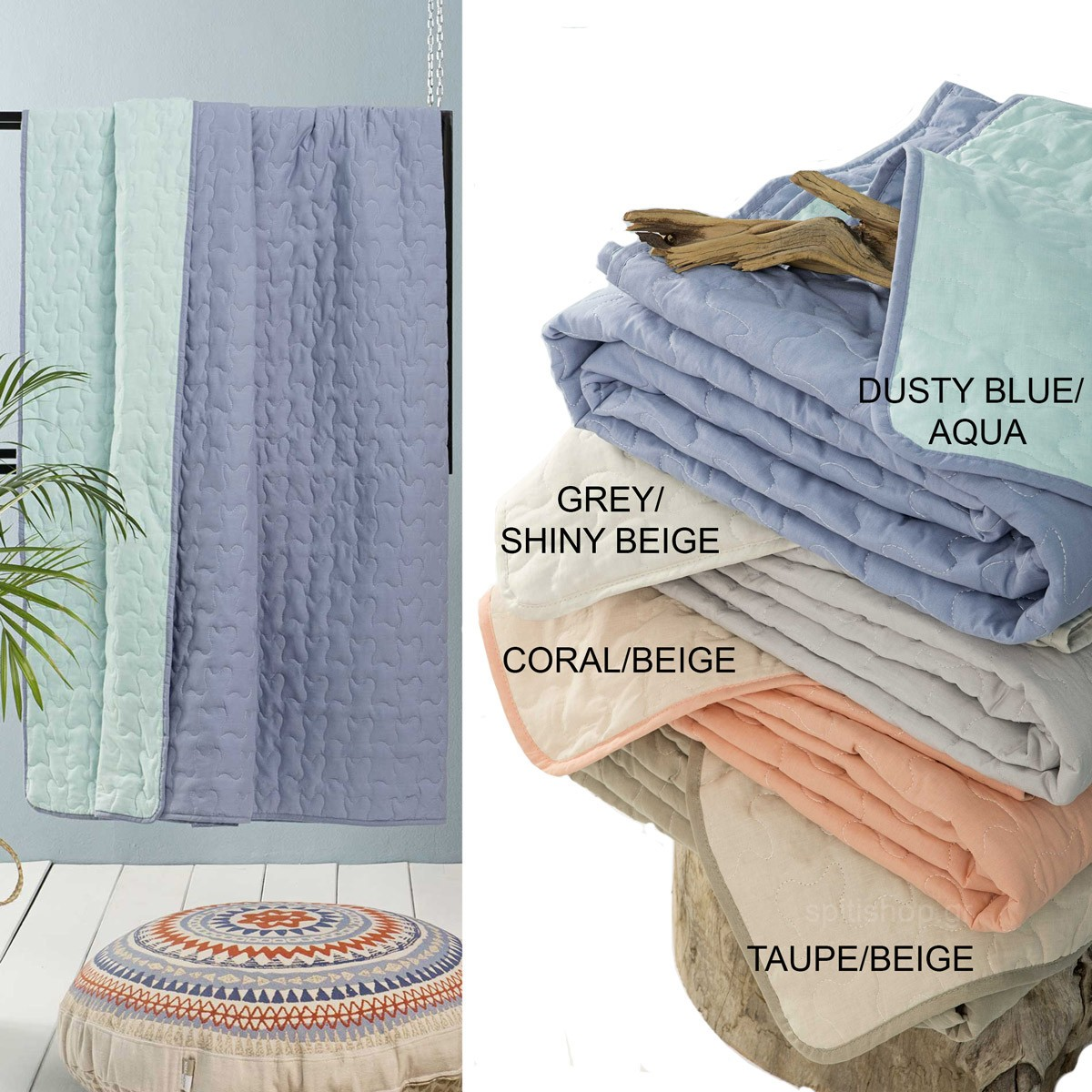 Κουβερλί Ημίδιπλο 2 Όψεων Nima Layers Colors SS2018 home   κρεβατοκάμαρα   κουβερλί   κουβερλί ημίδιπλα   διπλά