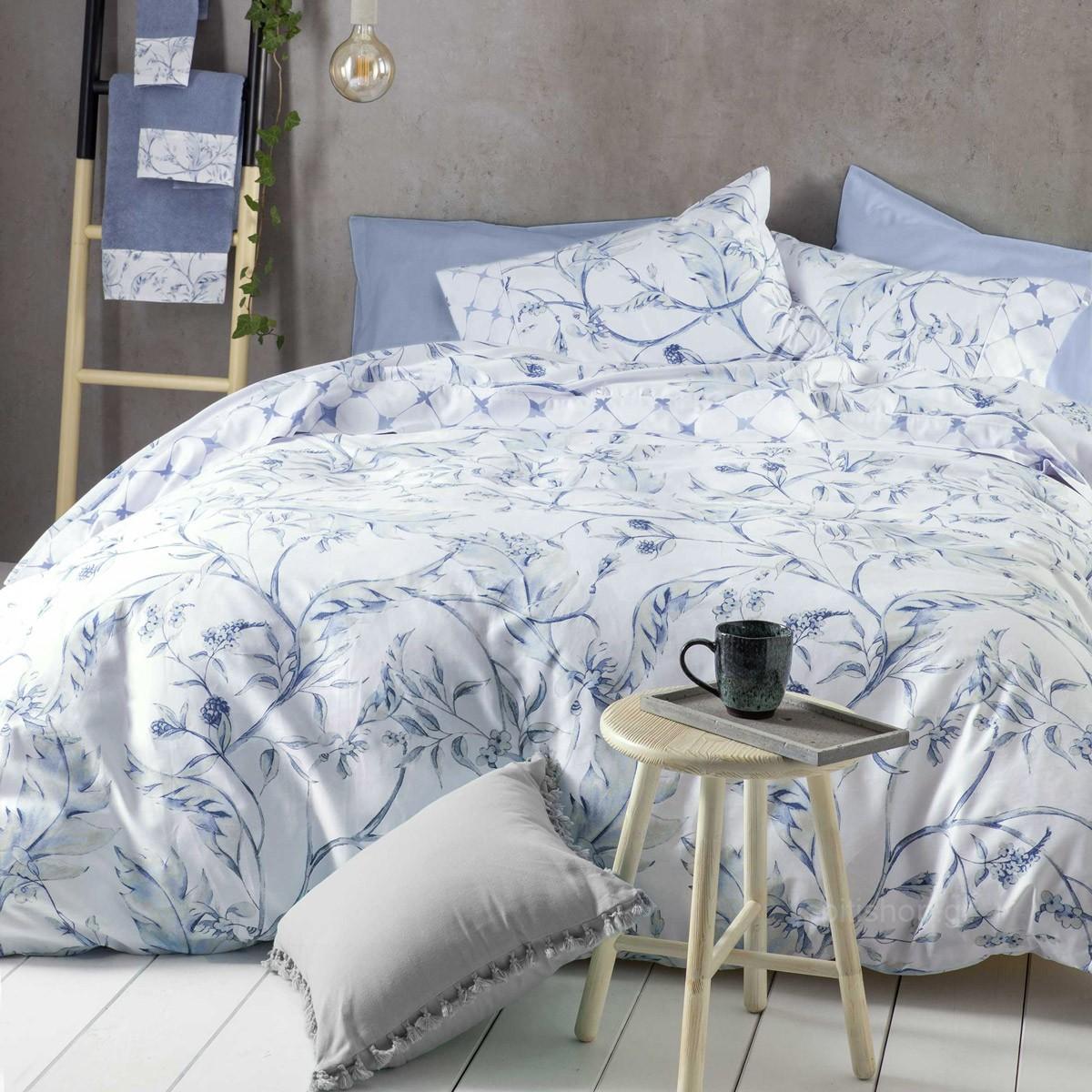 Σεντόνια Υπέρδιπλα (Σετ) Nima Bed Linen Oriana Blue
