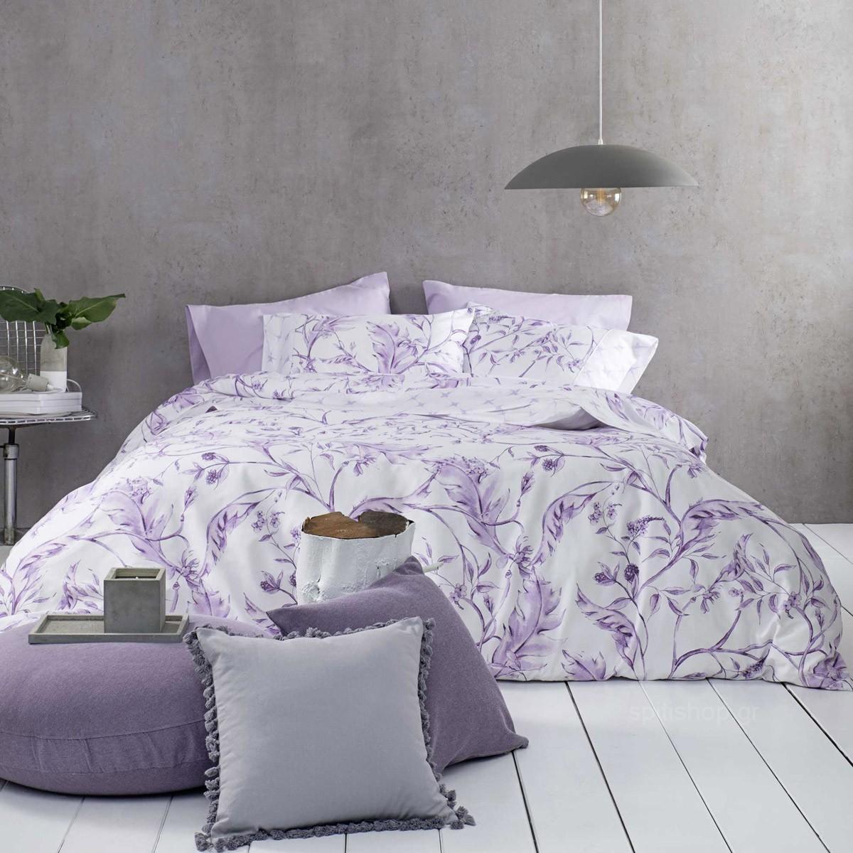 Σεντόνια King Size (Σετ) Nima Bed Linen Oriana Pink