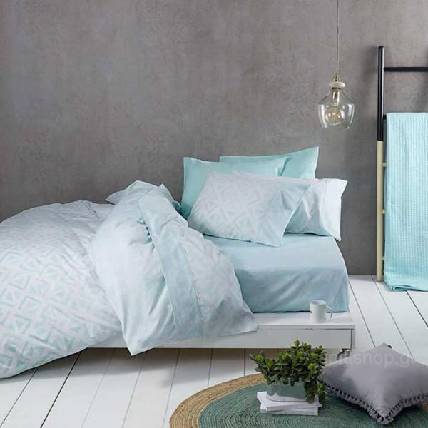 Σεντόνια Υπέρδιπλα (Σετ) Nima Bed Linen Segio Aqua