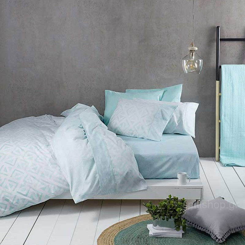 Σεντόνια King Size (Σετ) Nima Bed Linen Segio Aqua