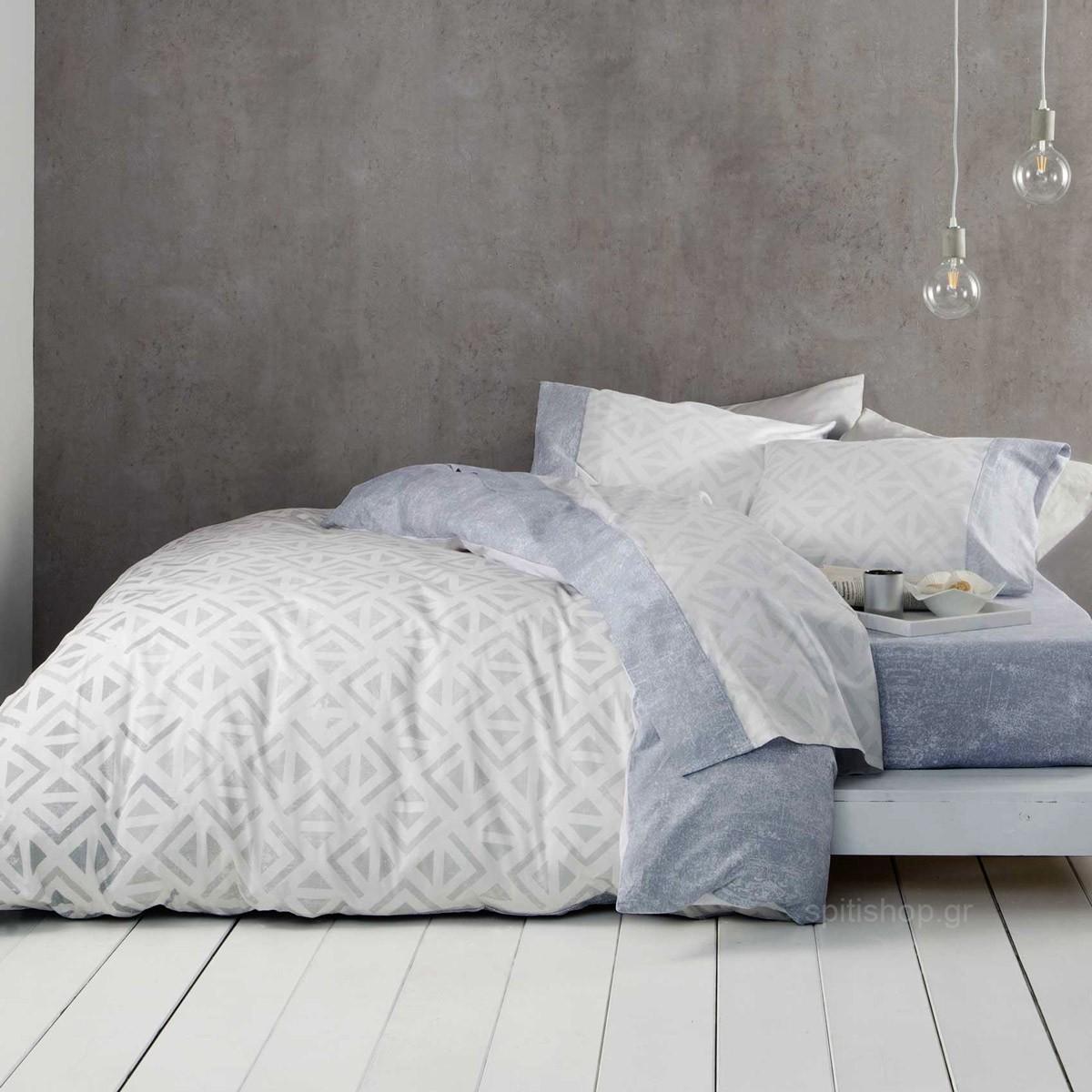 Σεντόνια Υπέρδιπλα (Σετ) Nima Bed Linen Segio Grey