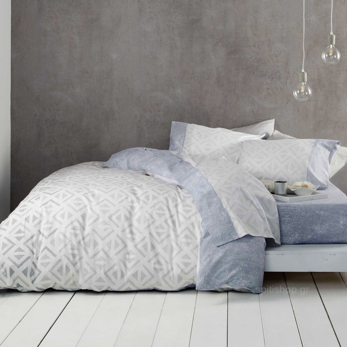 Σεντόνια King Size (Σετ) Nima Bed Linen Segio Grey