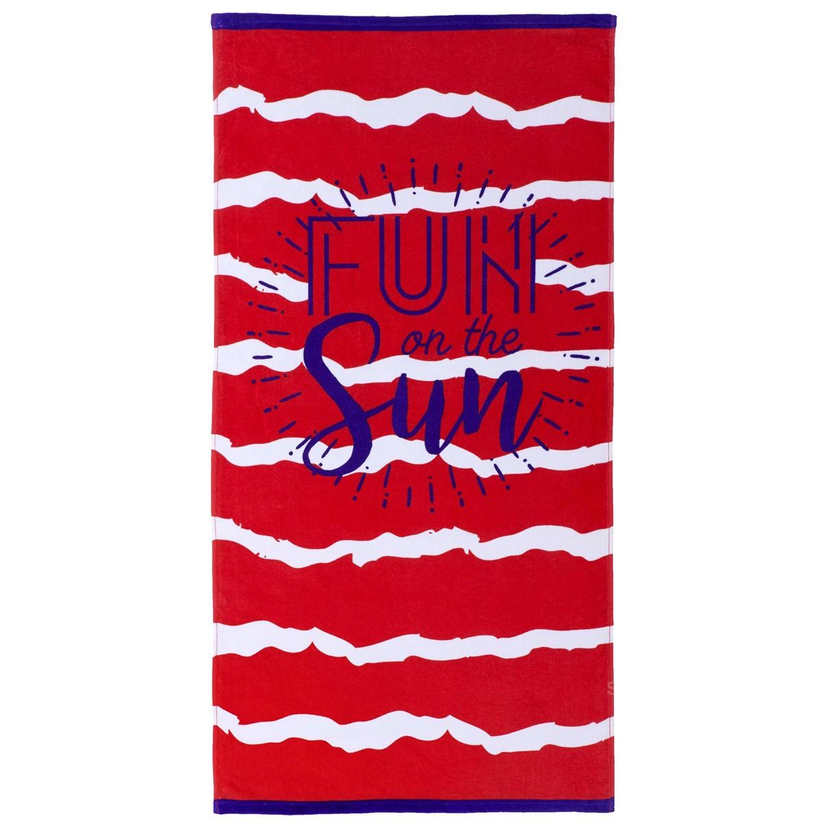 Πετσέτα Θαλάσσης Nima Beach Towels Cogori Red