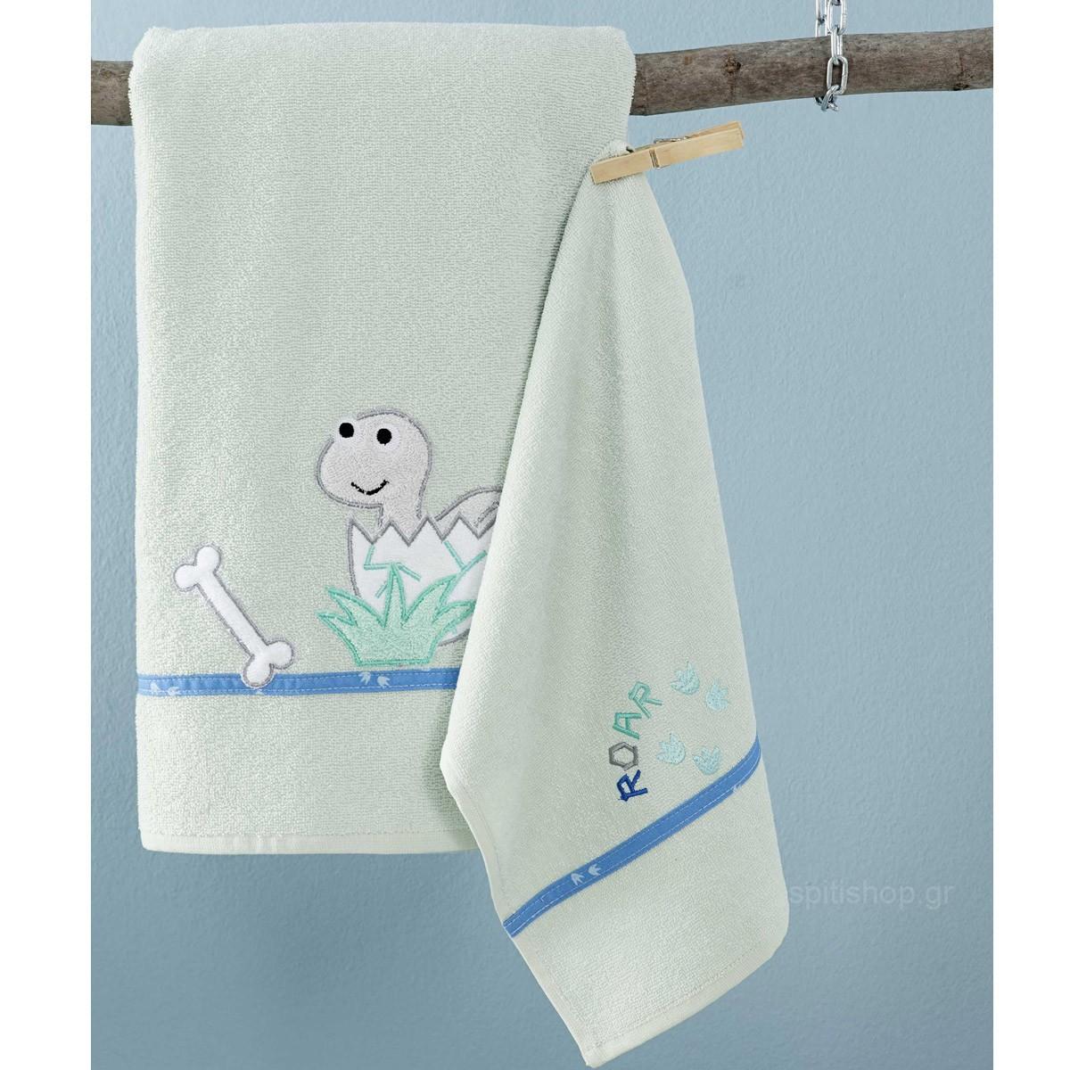 Βρεφικές Πετσέτες (Σετ 2τμχ) Nima Baby Roar Aqua