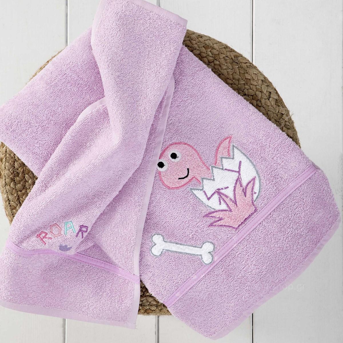 Βρεφικές Πετσέτες (Σετ 2τμχ) Nima Baby Roar Lilac