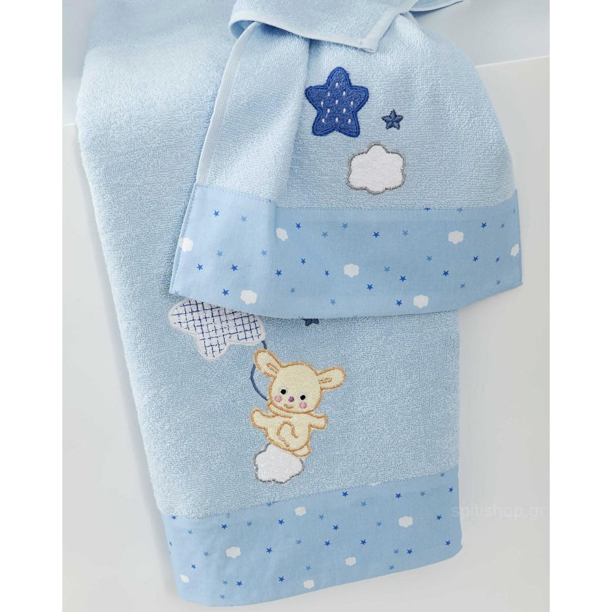 Βρεφικές Πετσέτες (Σετ 2τμχ) Nima Baby Star Blue