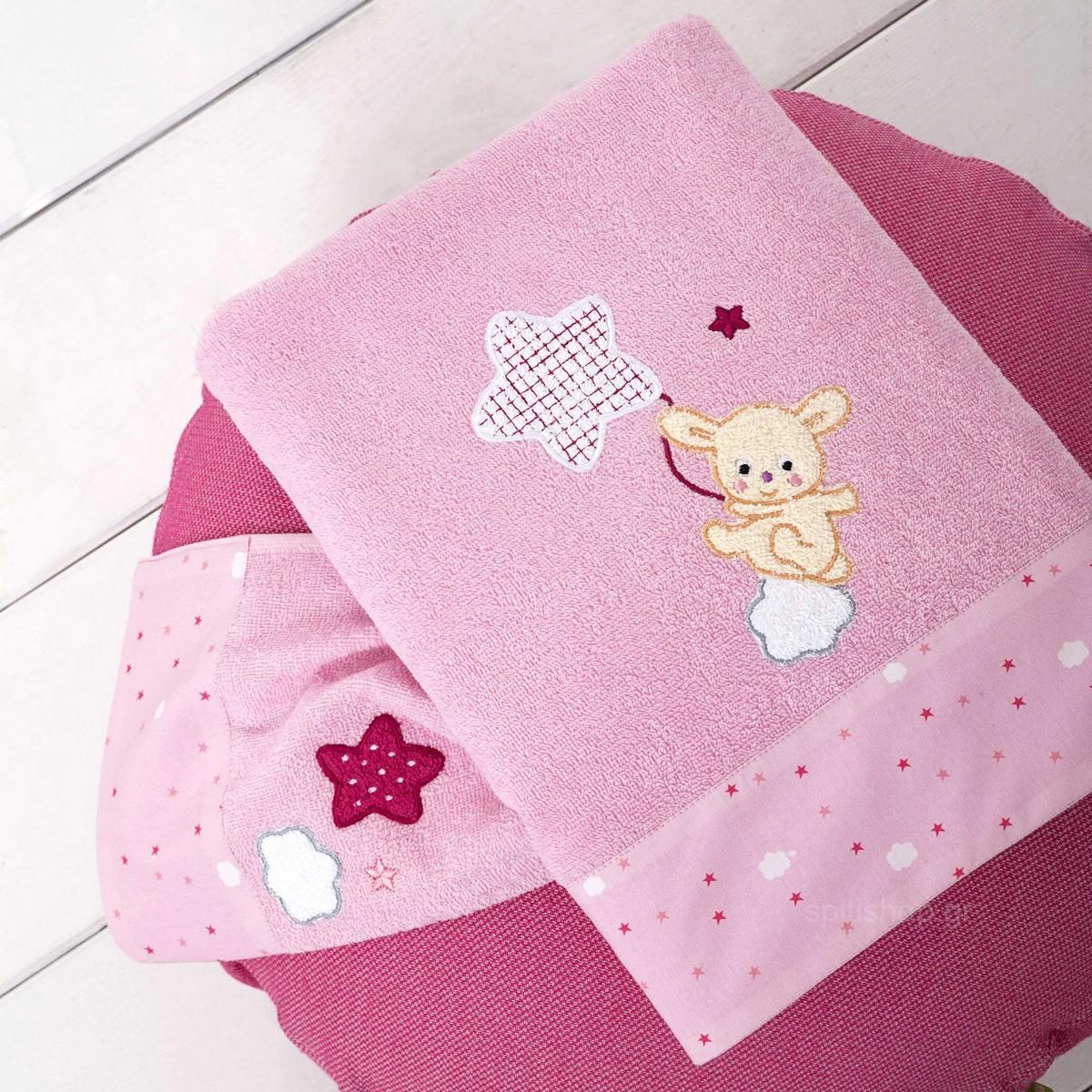 Βρεφικές Πετσέτες (Σετ 2τμχ) Nima Baby Star Pink 89265