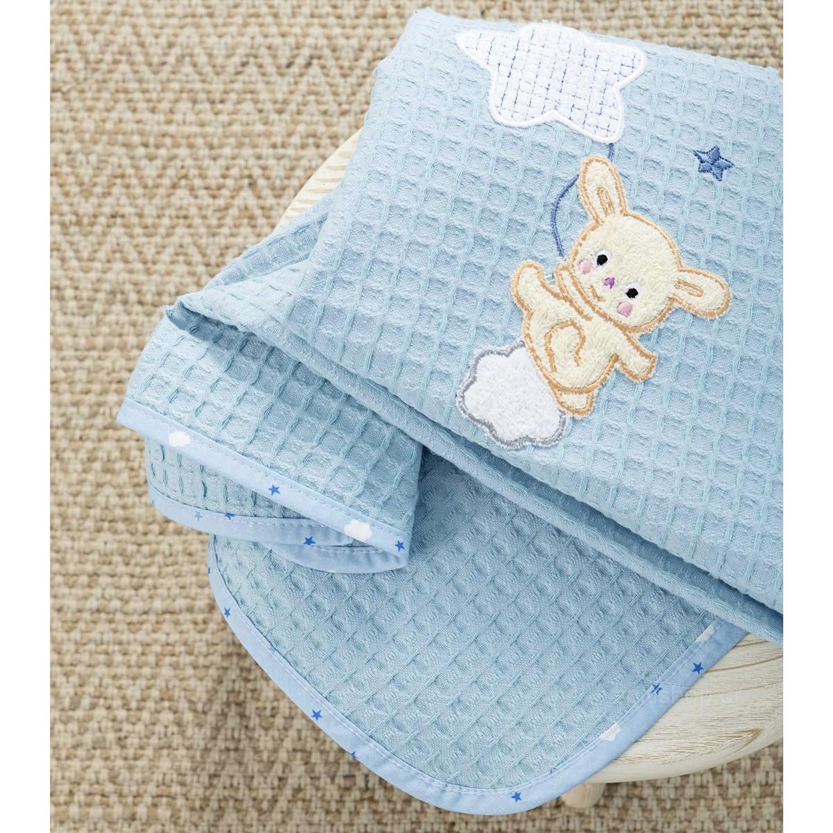 Κουβέρτα Πικέ Κούνιας Nima Baby Star Blue