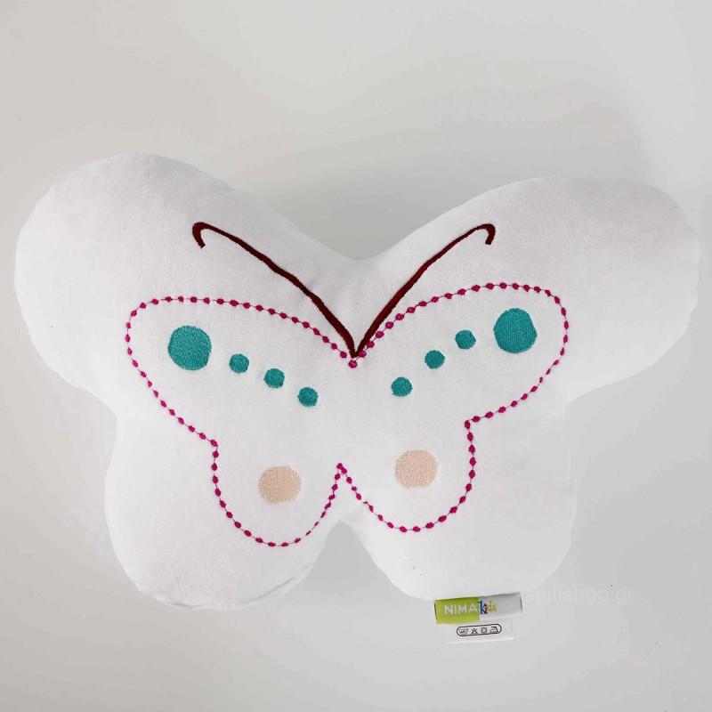 Διακοσμητικό Μαξιλάρι (40x25) Nima Kids Pillow Butterfly