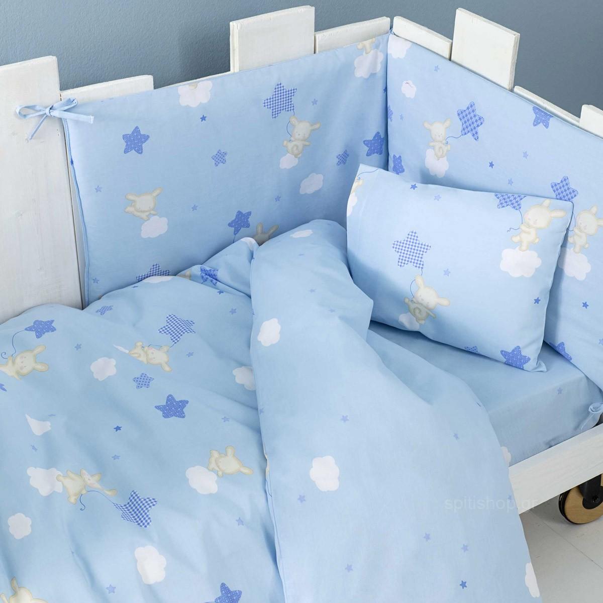 Σεντόνια Κούνιας (Σετ) Nima Baby Star Blue