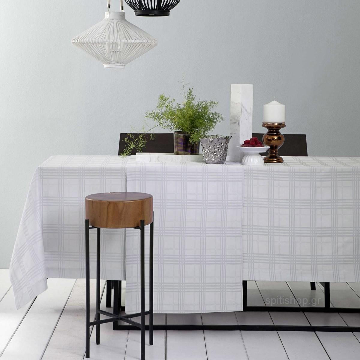 Τραπεζομάντηλο (150×190) Nima Table Linen Meliton Grey