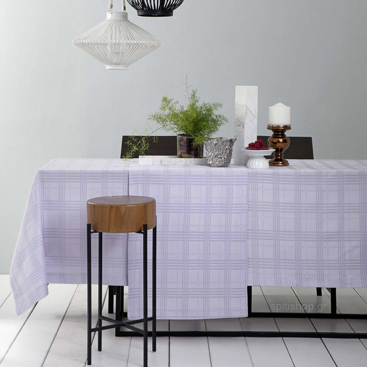 Τραπεζομάντηλο (150×150) Nima Table Linen Meliton Lilac