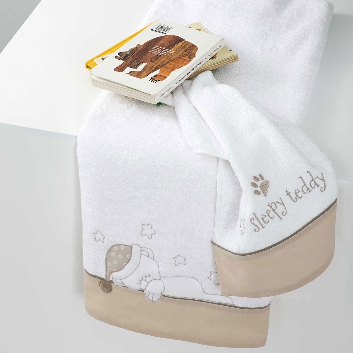 Βρεφικές Πετσέτες (Σετ 2τμχ) Nima Baby Sleepy Teddy