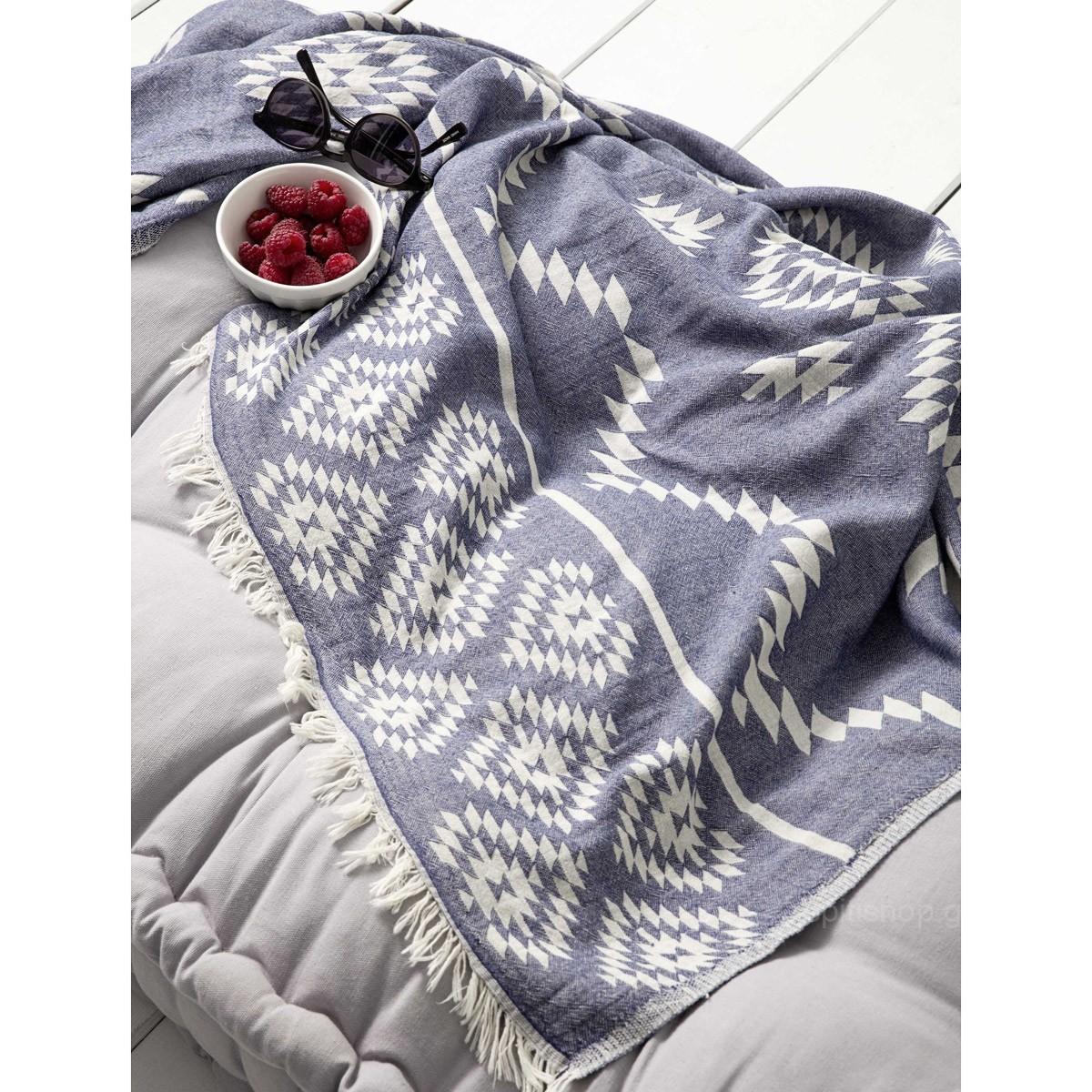 Παρεό Nima Beach Towels Sidari Blue