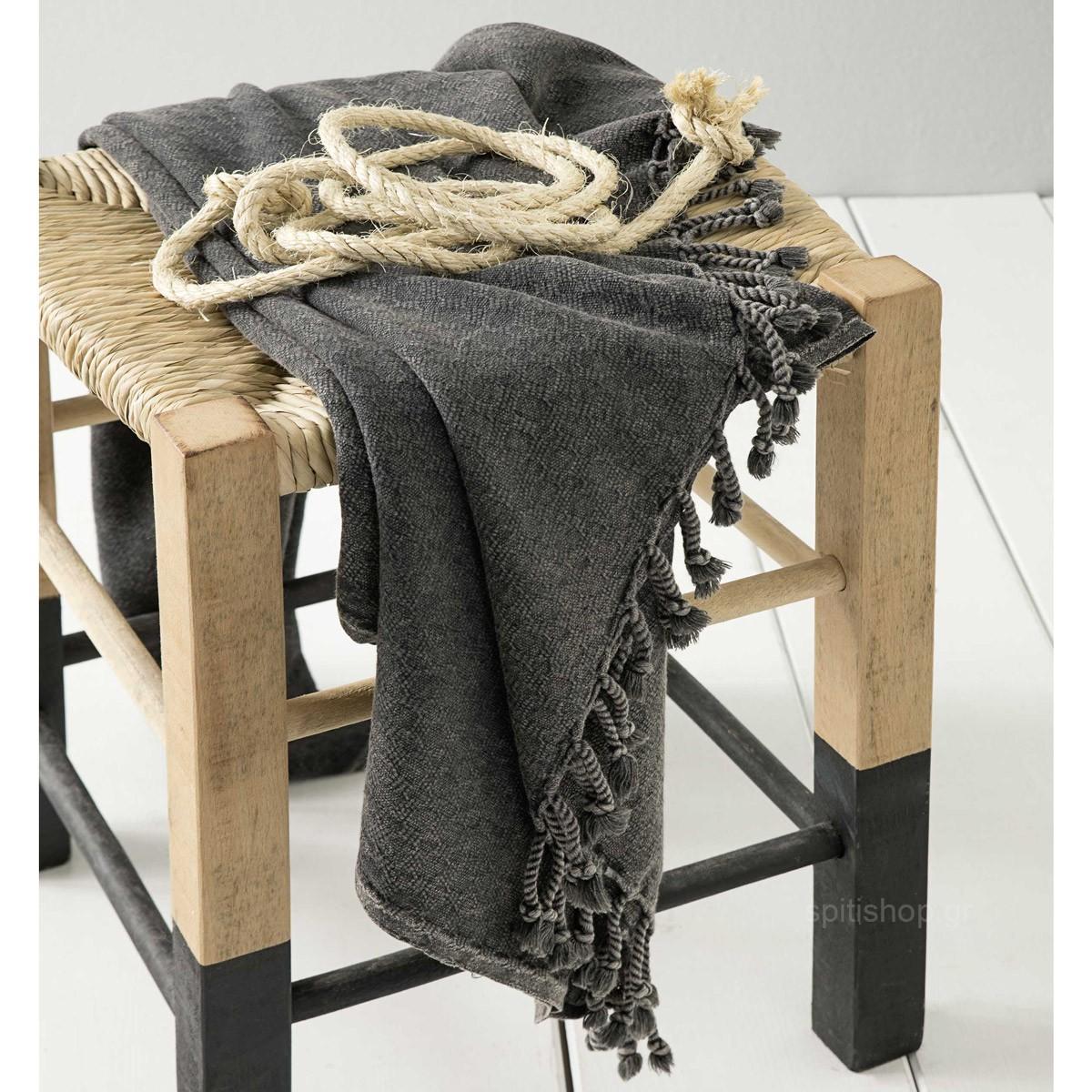Παρεό Nima Beach Towels Zaga Grey