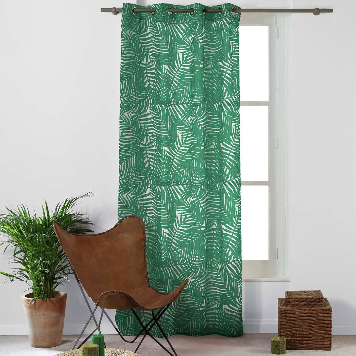 Κουρτίνα (140x240) Με Τρουκς Eucalys Vert 1625594