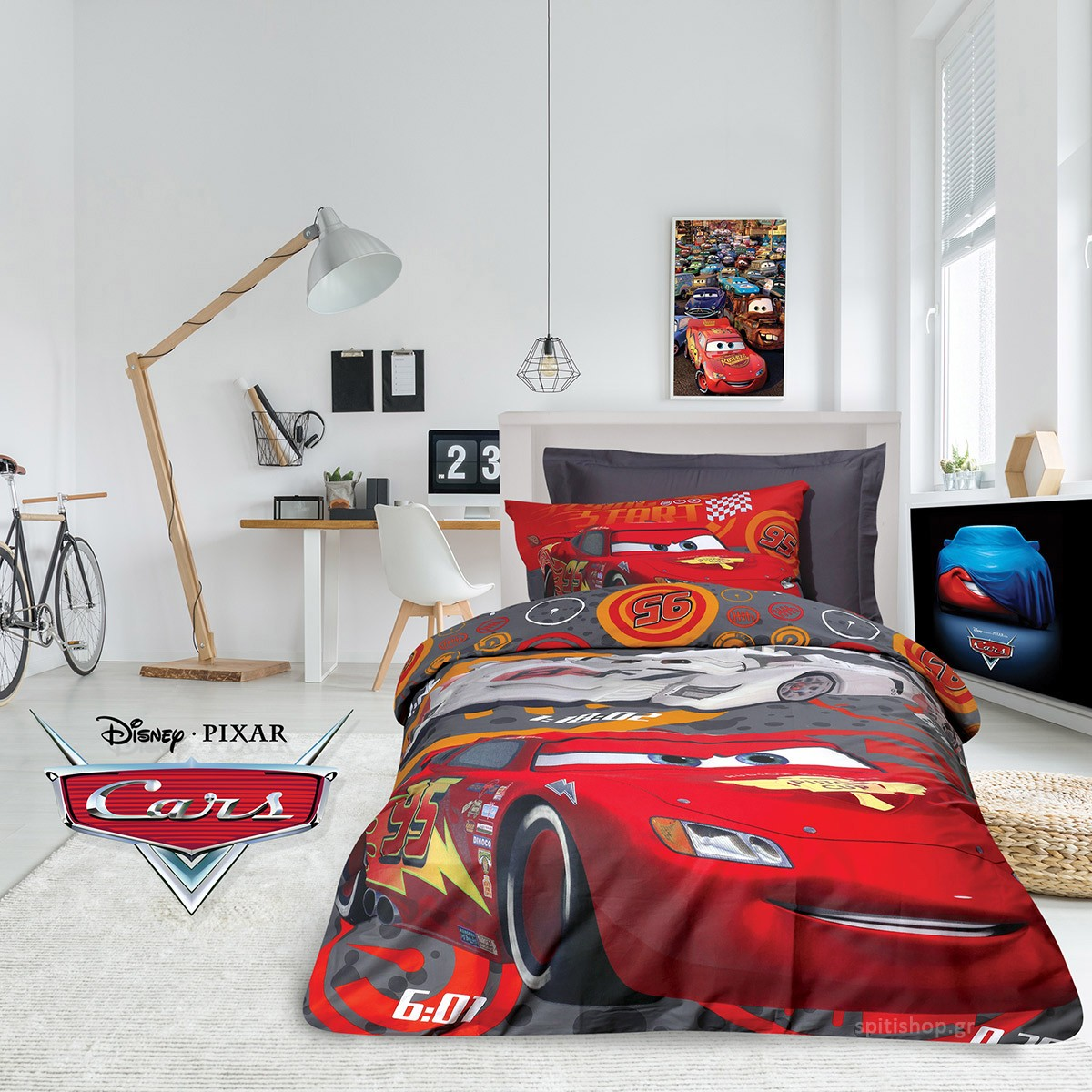 Παπλωματοθήκη Μονή (Σετ) Das Home Cars Cartoon 5009 89783
