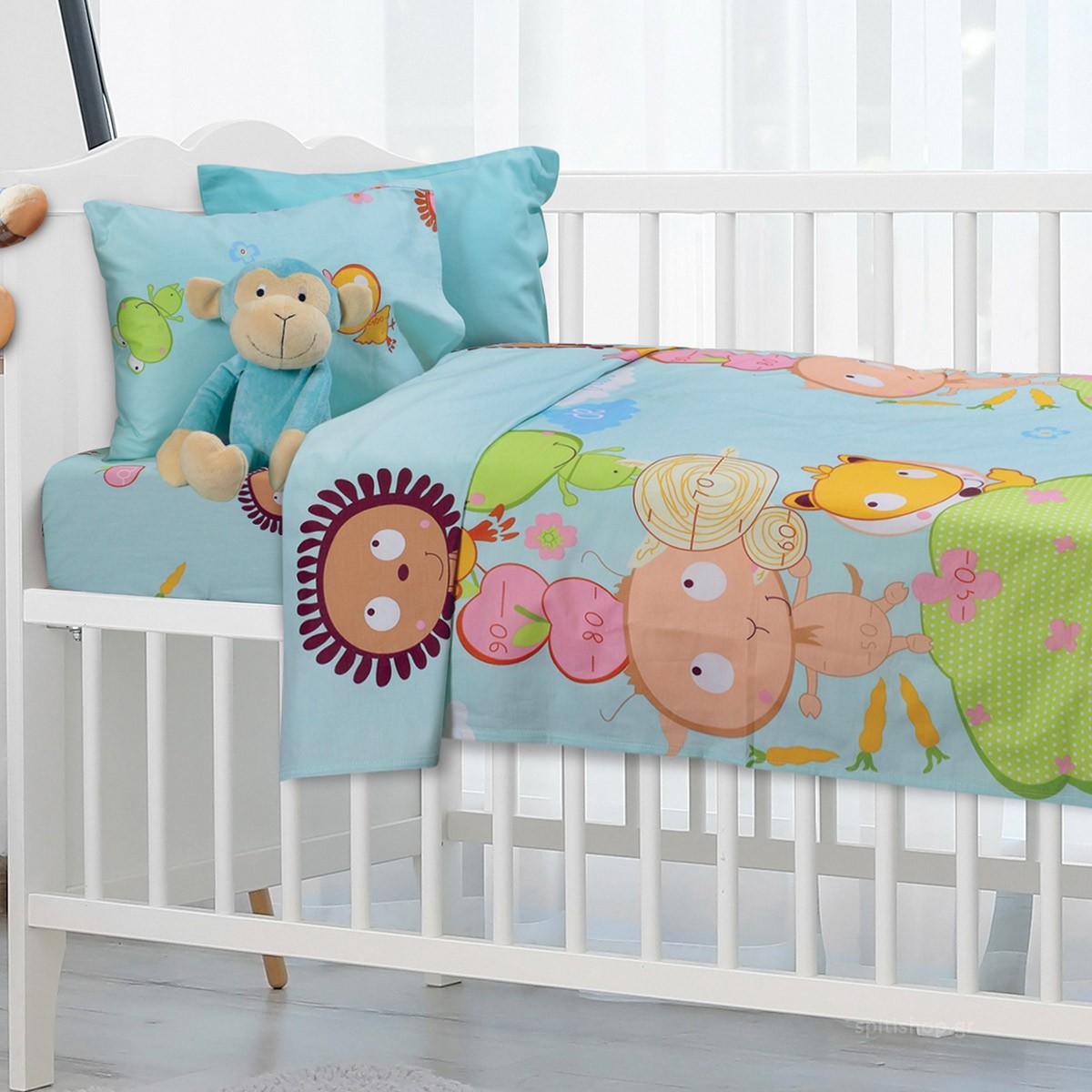 Σεντόνια Κούνιας (Σετ) Das Home Dream Prints 6446