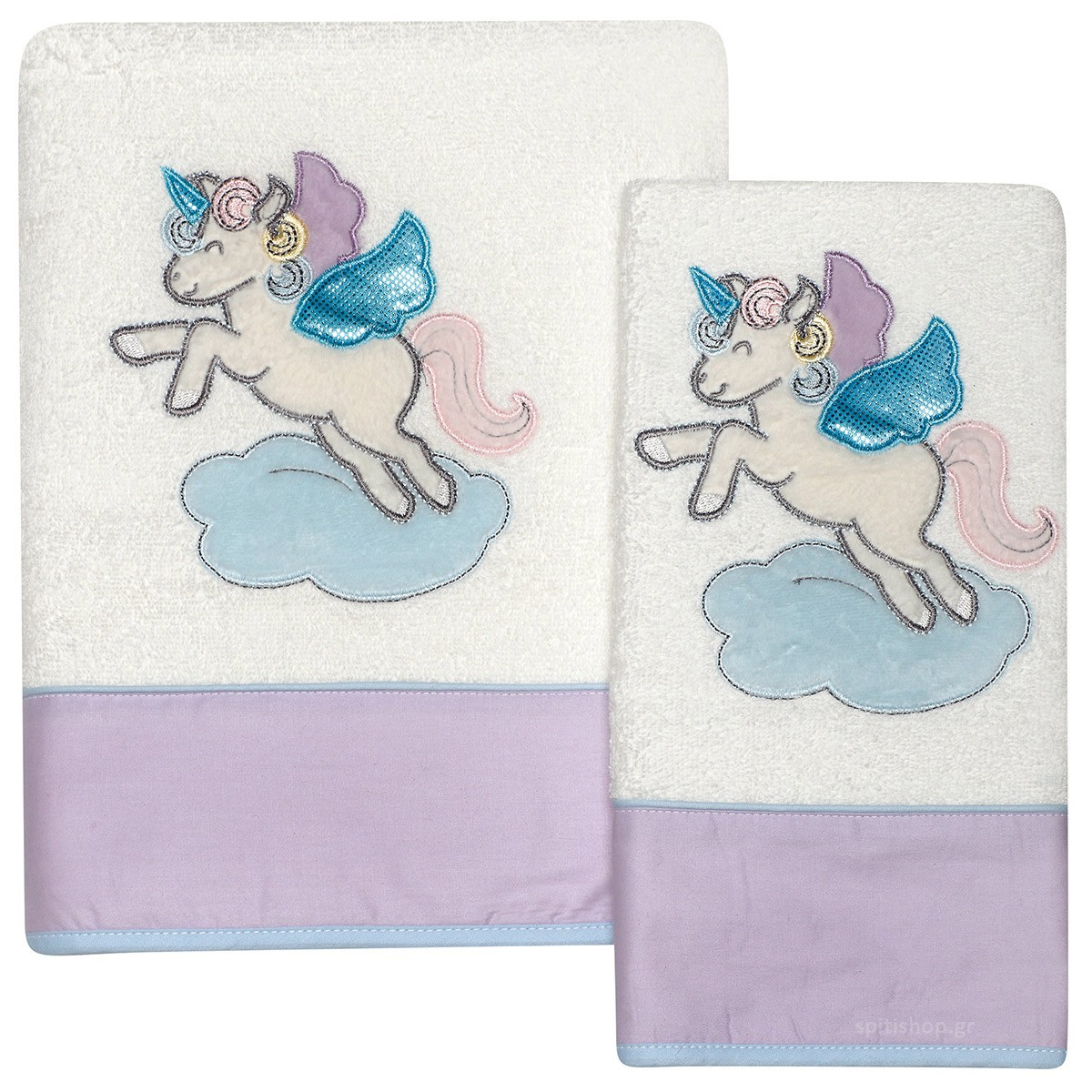 Βρεφικές Πετσέτες (Σετ 2τμχ) Das Home Dream Embroidery 6463