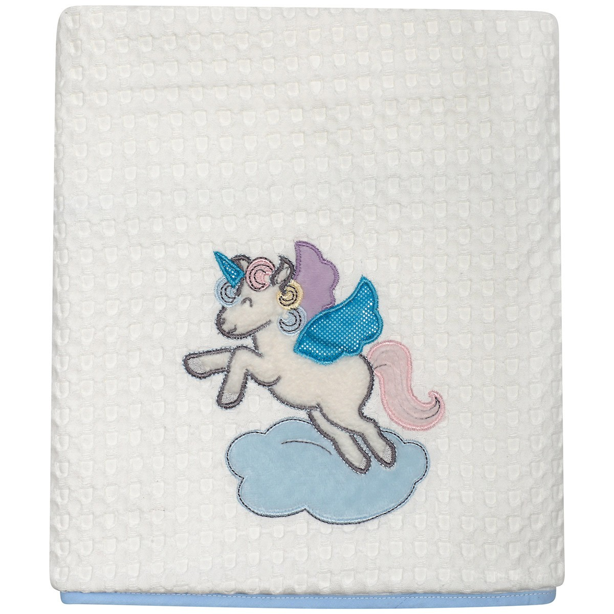 Κουβέρτα Πικέ Κούνιας Das Home Dream Embroidery 6463 89925
