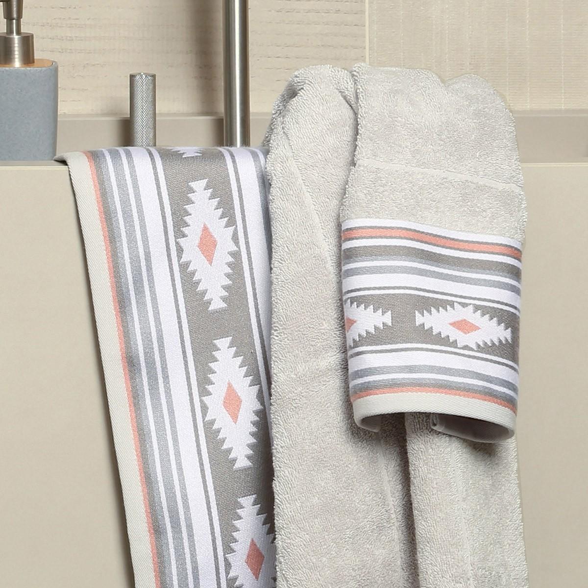 Πετσέτα Προσώπου (50x90) Nef-Nef Attention Grey home   μπάνιο   πετσέτες μπάνιου